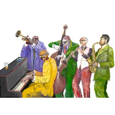 jazz_band_photosculpture
